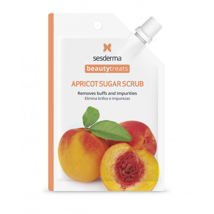 BEAUTY TREATS Apricot sugar scrub mask Маска-скраб для лица (Многоразовая)