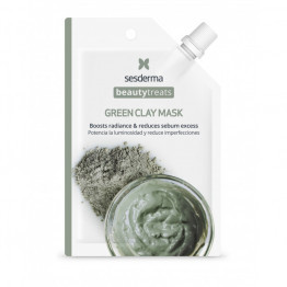 BEAUTY TREATS Green clay mask Маска глиняная для лица (Многоразовая)